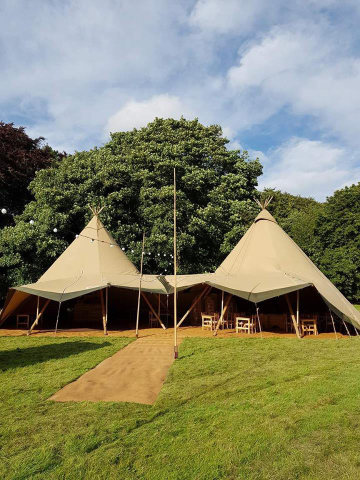 2 Giant teepees