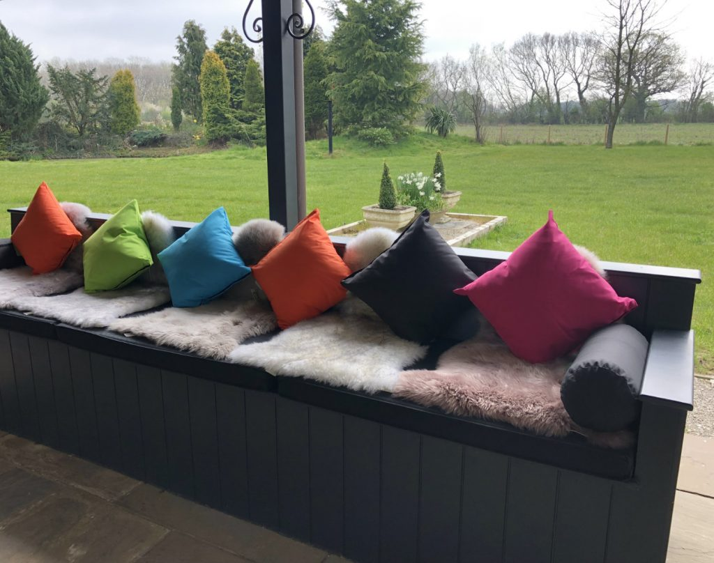 Outdoor Seating Area at Woodland Lodge