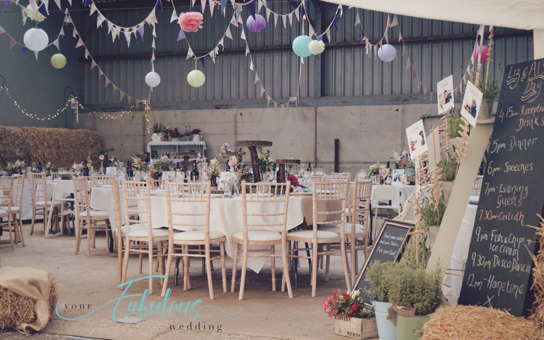 Yummy Yorkshire Barn Wedding