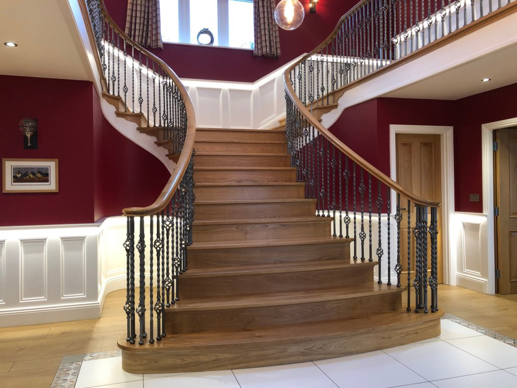 Staircase at Spicer Manor