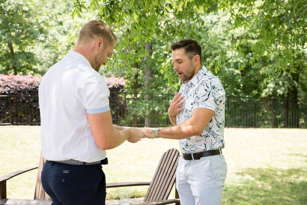 Proposal in garden- wedding planning kick start