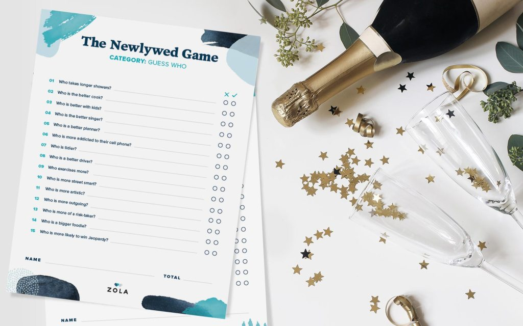 Printable Wedding Games