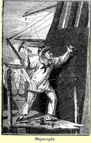 Engraving of shipwright