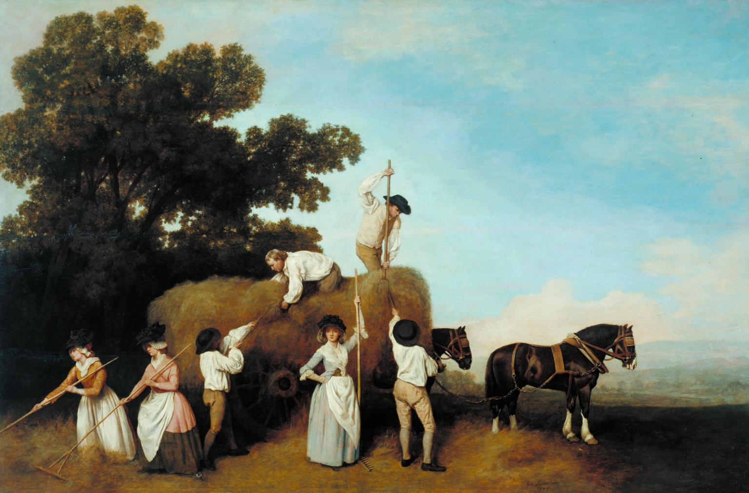 Haymakers 1785 by George Stubbs