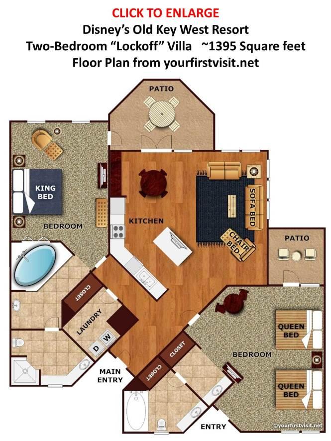 2 Bedroom Suites At Disney World. Best 2 Bedroom Villas Near Disney World   Bedroom Style Ideas