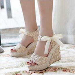 Wedding wedge shoes