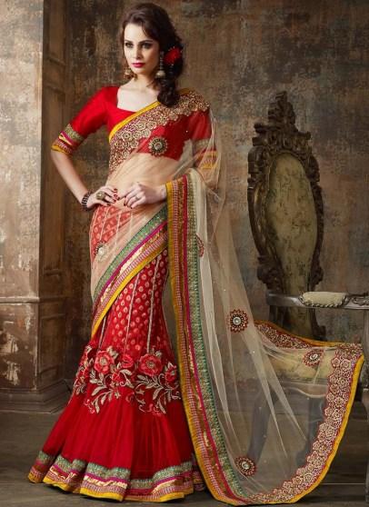 Net Lehenga Bridal Party Wear Dress For Indian Brides 9