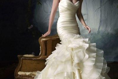 Bridal Frilly Dresses For Summer Season Weddings