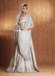 White Jeweled Bridal Formal Lehanga Designs 2016 3