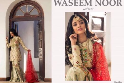 9097490019 Waseem Noor Summer Bridal Pret Collection 2017