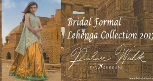 Tena Durrani Summer Bridal Lehenga Formal Collection 2017