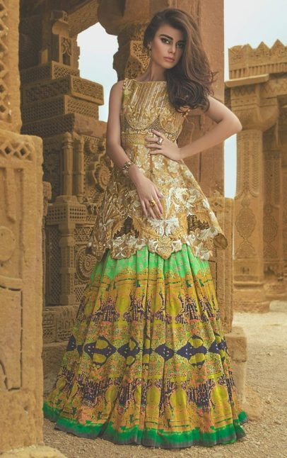 Tena Durrani Summer Bridal Lehenga Formal Collection 2017 16