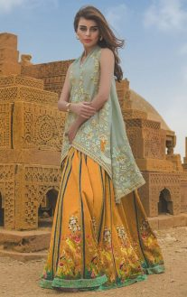 Tena Durrani Summer Bridal Lehenga Formal Collection 2017 8