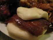 """""""Beijing Roasted Duck Biscuit"""" w/ Scallion & Hoisin Sauce"""