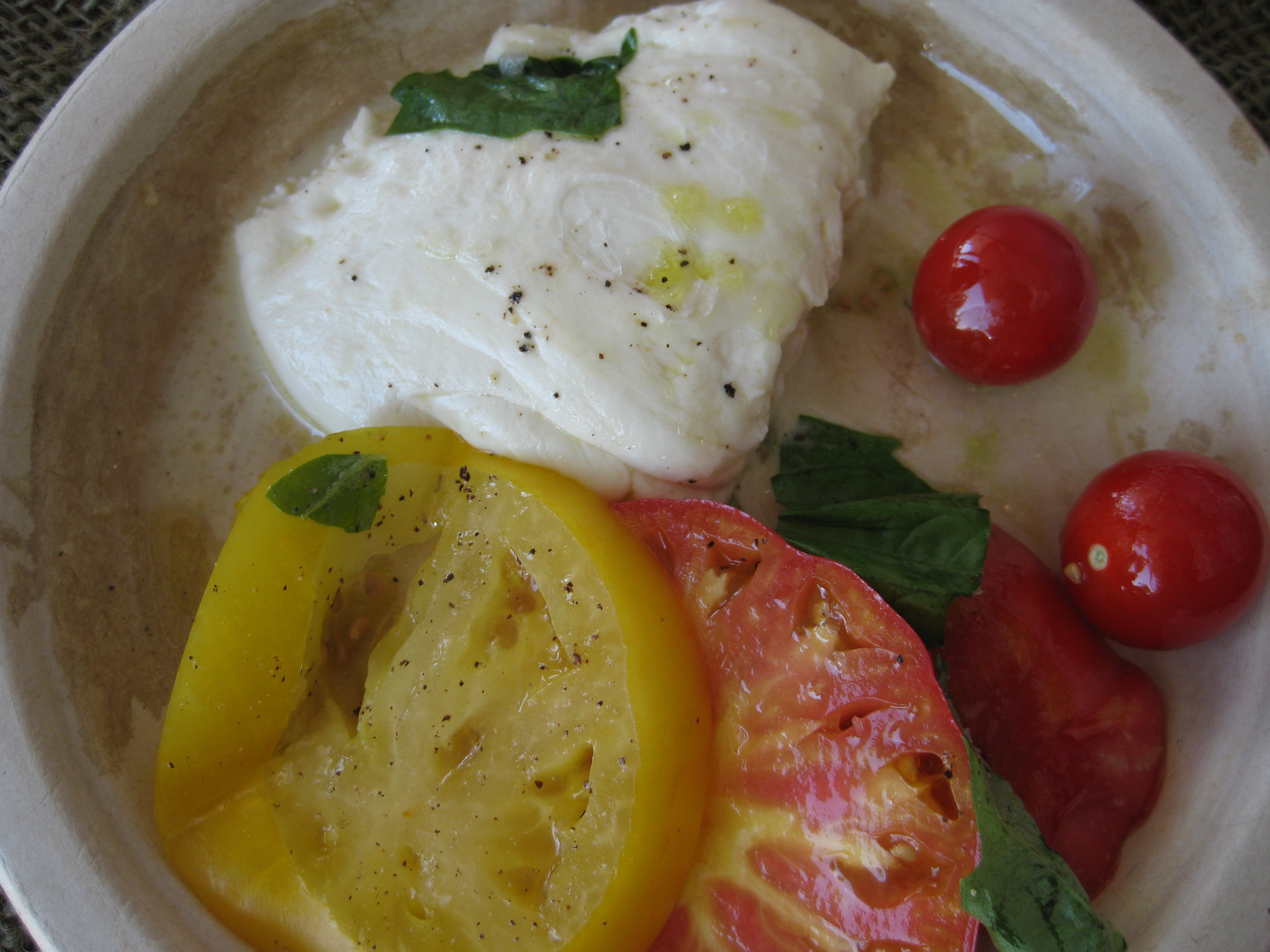 Fresh Pulled Mozzarella and Heirloom Tomatoes