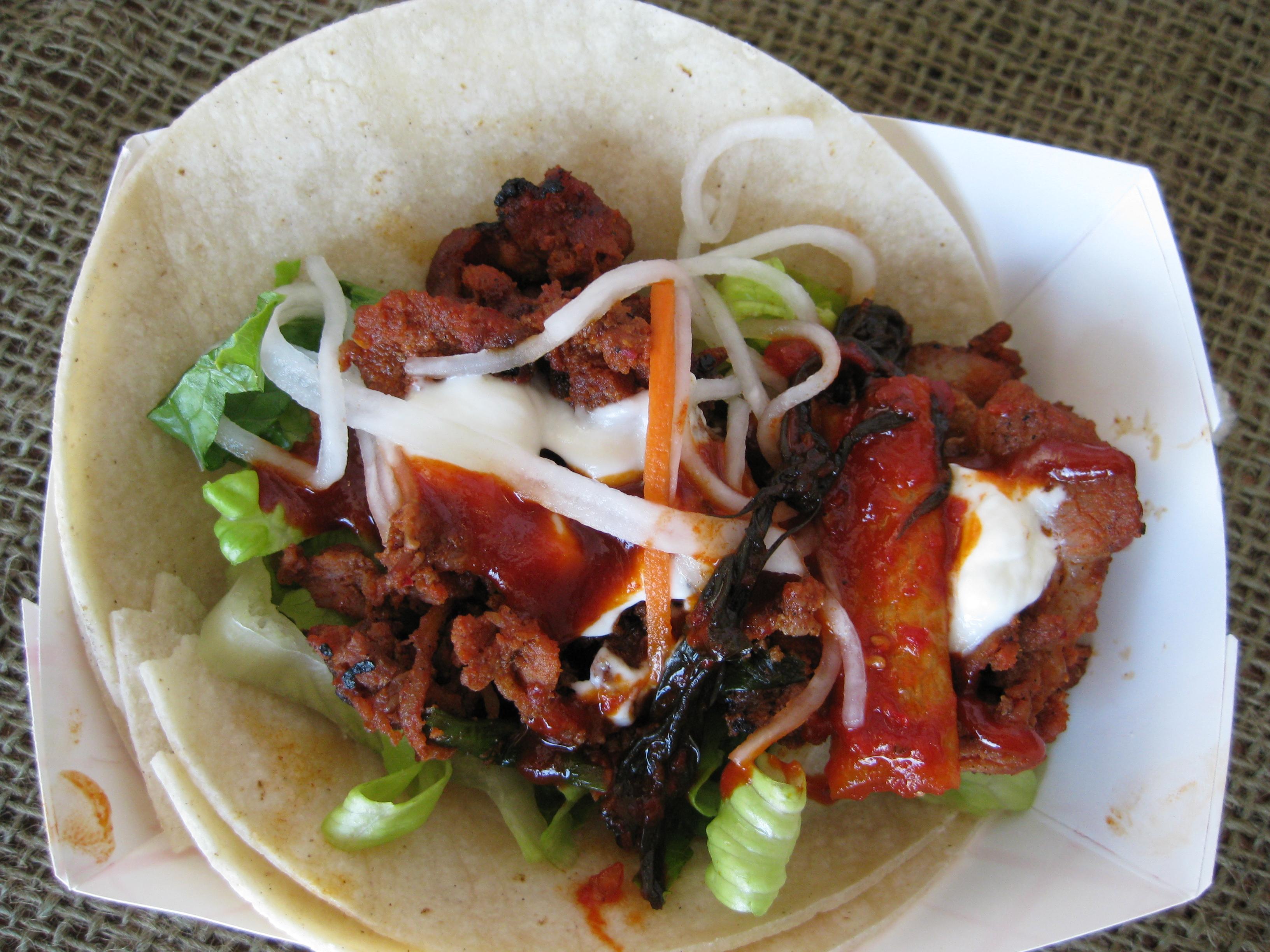 "Korean Spicy Pork ""Taco"""