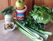 The makings of a Waldorf Salad.