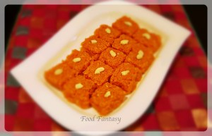 Carrot Barfi at YourFoodFantasy.com