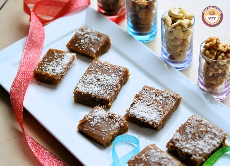 Water chestnut Fudge Recipe | Singhara Recipes | Your Food Fantasy.com