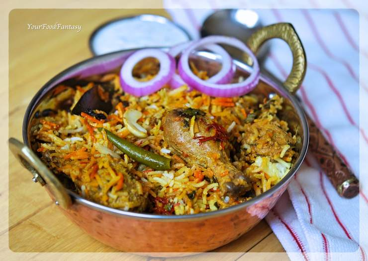 Hyderabadi Chicken Dum Biryani Recipe | YourFoodFantasy.com