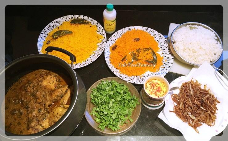 all ingredients for chicken biryani recipe at yourfoodfantasy.com by meenu gupta