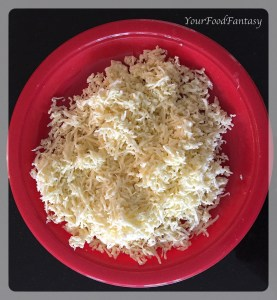 grated cottage cheese for paneer potato cutlet | yourfoodfantasy