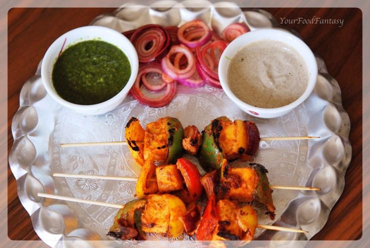 Paneer tikka made on tawa | your food fantasy