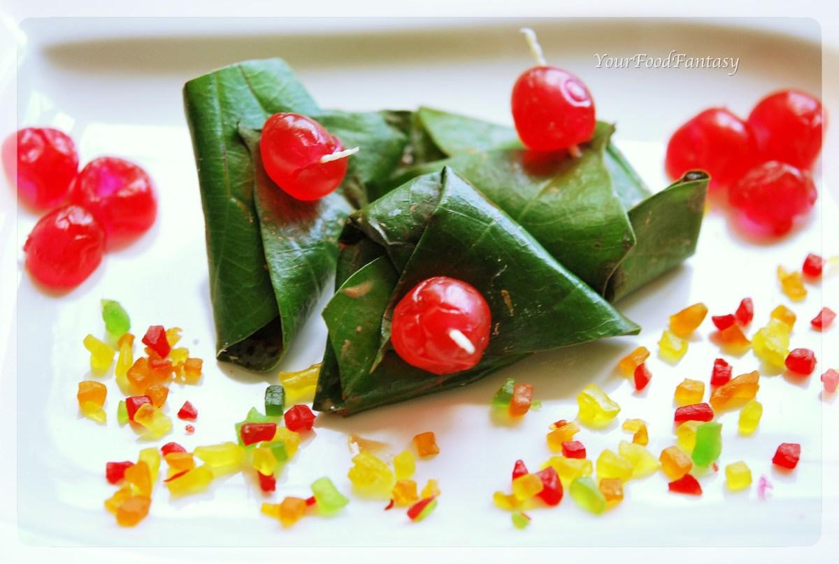 Sweet betel (मीठा पान) recipe