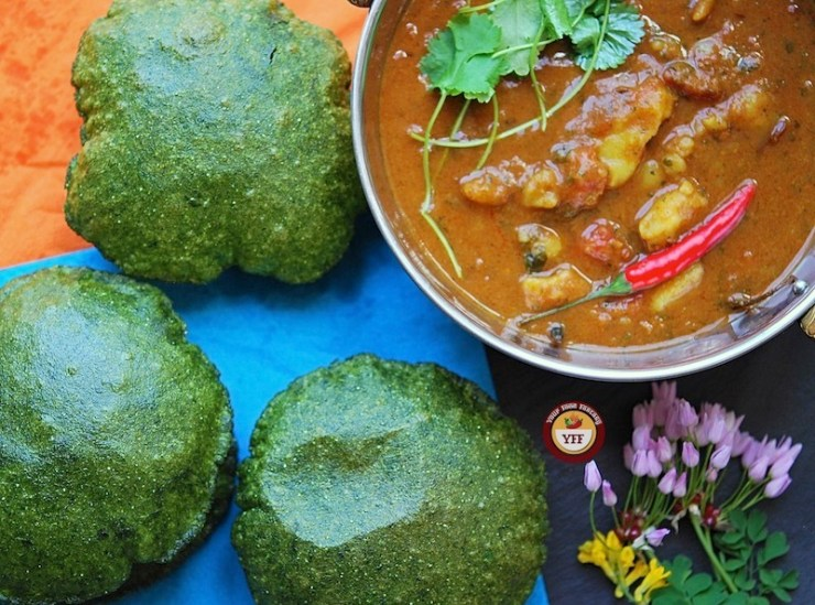 Spinach - Palak Ke Poori | Your Food Fantasy