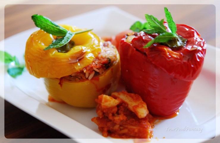 Gemista recipe - bellpepper-rice-tomato | YourFoodFantasy.com
