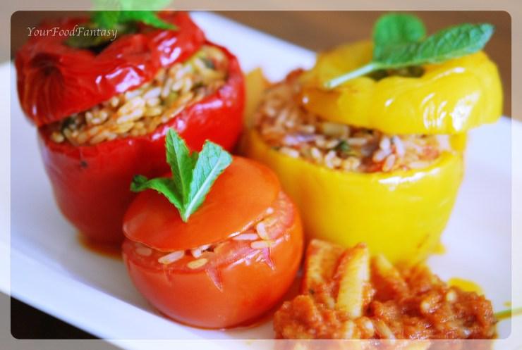 gemista recipe | greek food | yourfoodfantasy.com