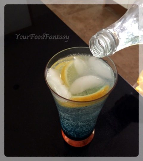 Blue Lagoon Drink | YourFoodFantasy.com