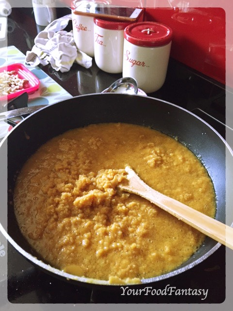 Moong Dal Halwa making at yourfoodfantasy.com