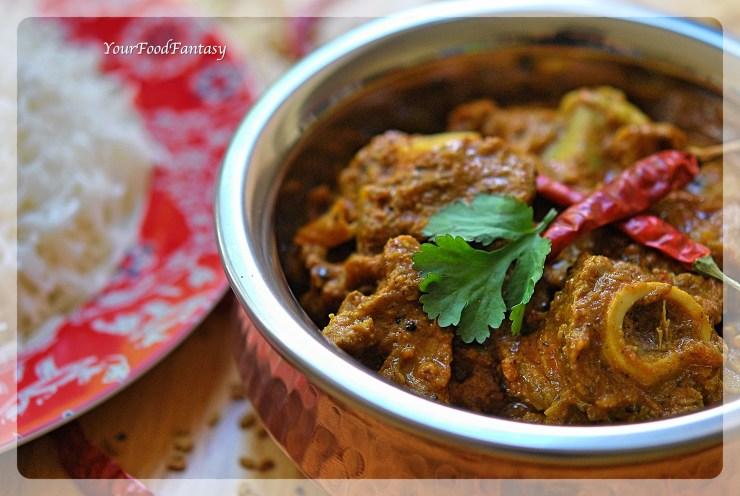 Achari Gosht Curry Recipe | YourFoodFantasy.com