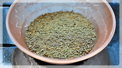 Crushed Fennel and Fenugreek Seeds