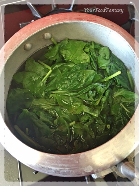 boiling spinach for palak paneer   YourFoodFantasy