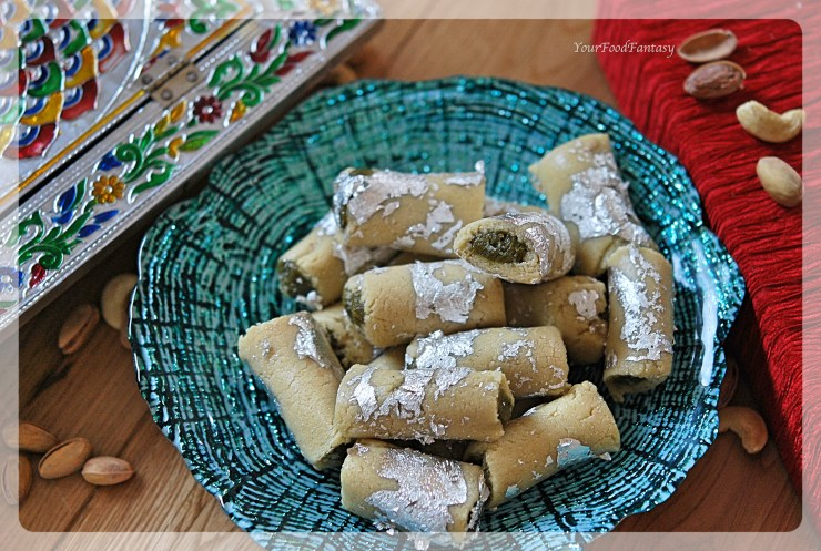 How to Make Kaju Pista Roll At Home | YourFoodFantasy.com