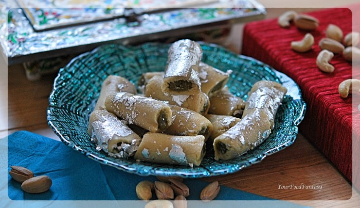 Homemade Kaju Pista Rolls | Your Food Fantasy by Meenu Gupta