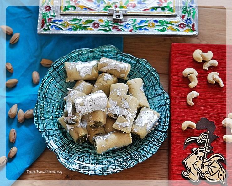 How to Make Kaju Pista Roll | Indian Sweet Recipe