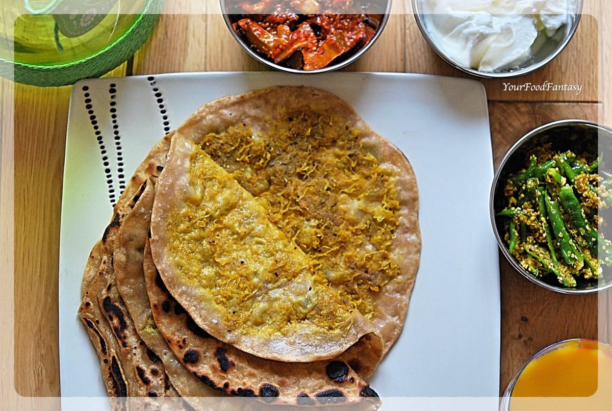 Layered Mooli Paratha