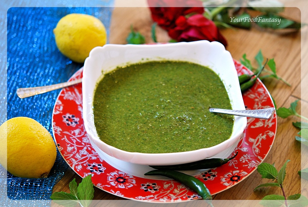 Mint Coriander Green Chutney Recipe