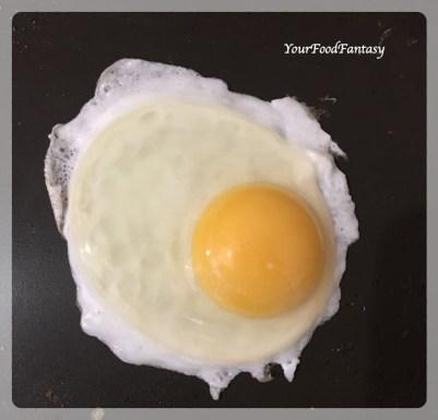 Half Fry Egg for Egg Kejriwal | Your Food Fantasy