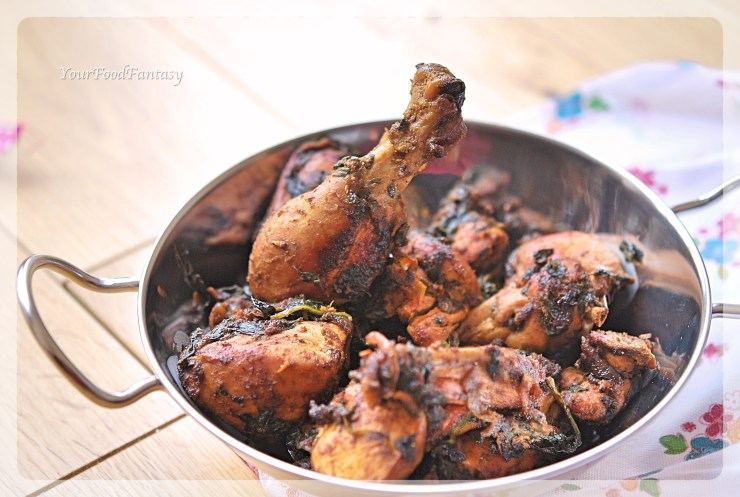 Palak Chicken Curry Recipe   Your Food Fantasy