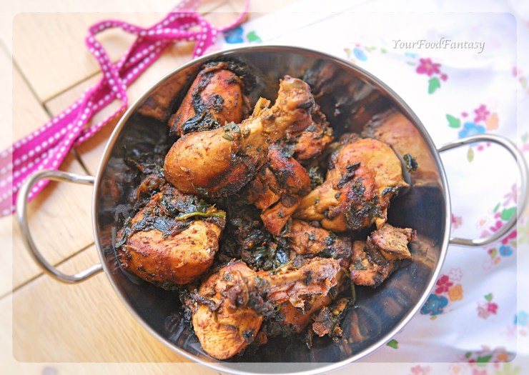 Spinach Chicken Curry Recipe | YourFoodFantasy.com By Meenu Gupta