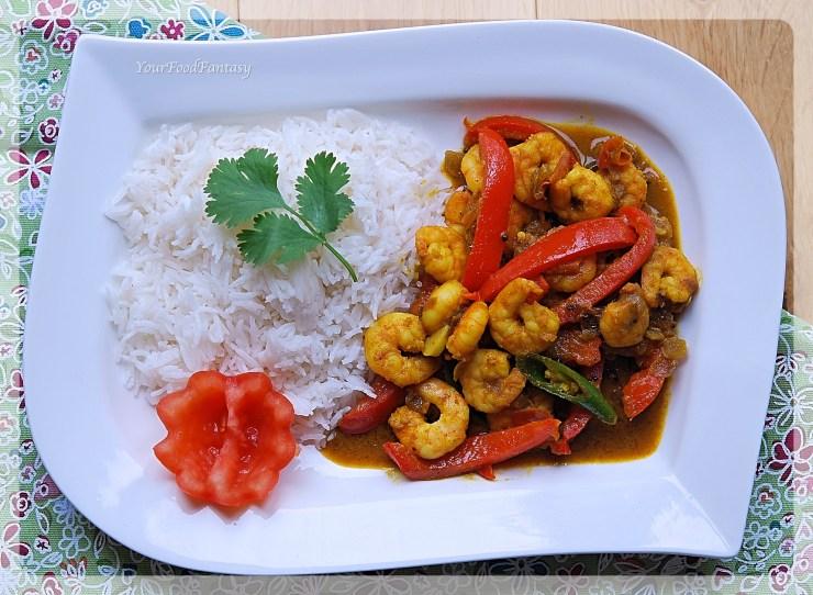 Indian Capsicum Prawn Curry Recipe   Your Food Fantasy