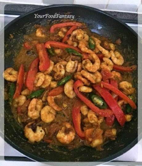 Prawn Capsicum Curry Recipe | Your Food Fantasy