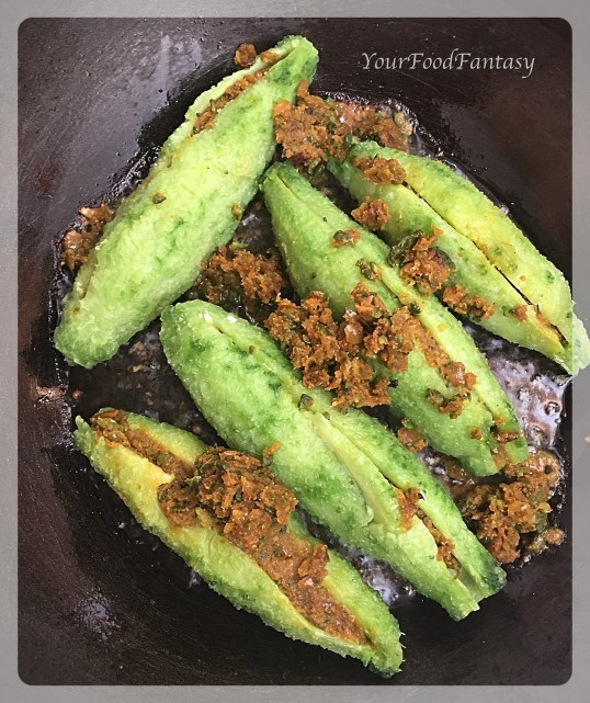 Frying Stuffed Karela | Stuffed Karela Recipe | Your Food Fantasy
