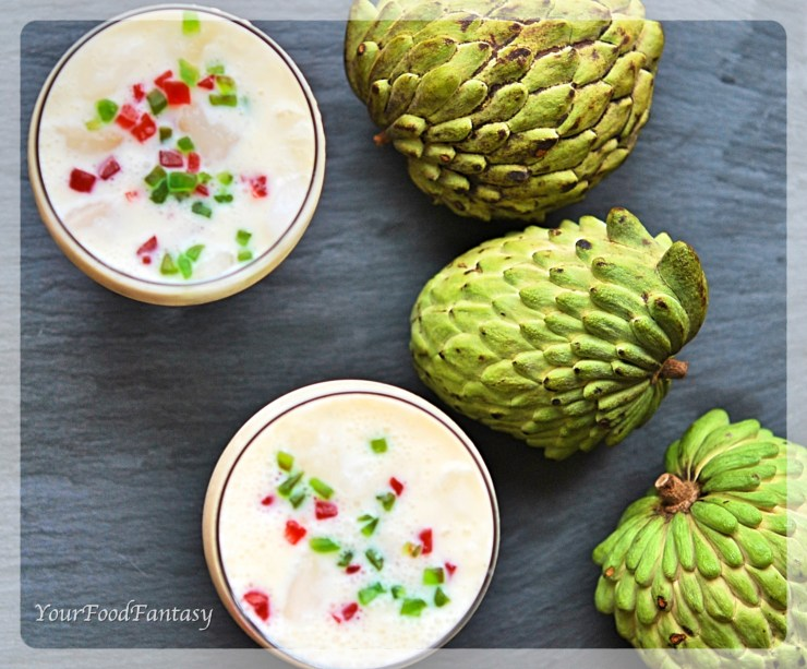 Custard Apple Milkshake Recipe - Your Food Fantasy
