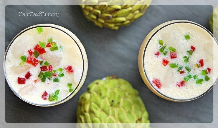 Custard Apple Recipes | Milkshake Recipes | YourFoodFantasy.com by Meenu Gupta