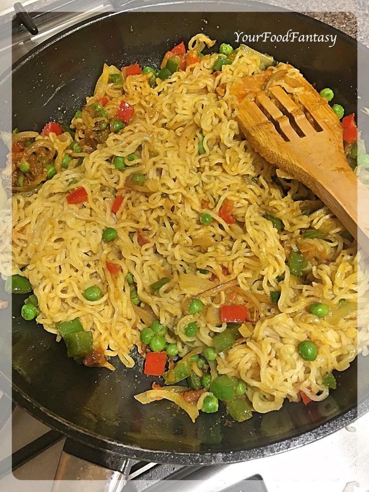 Vegetable Maggie Masala Recipe | Your Food Fantasy